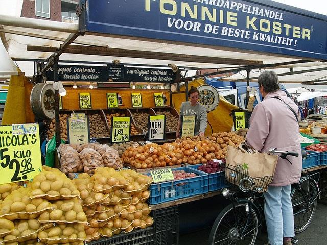 Fietstocht langs Amsterdamse markten