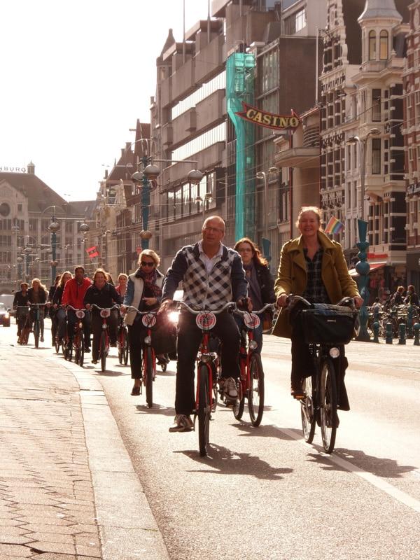 Oude binnenstad fietstocht